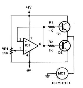 Simple DC Motor Controller Circuit
