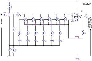 6 Band Graphic Equaliser Circuit